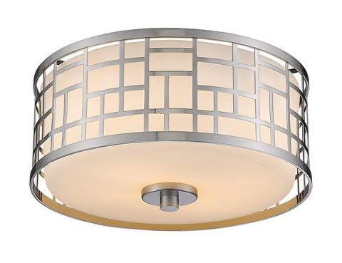 Z-Lite 330F12-BN 2 Light Flush Mount - ZLiteStore