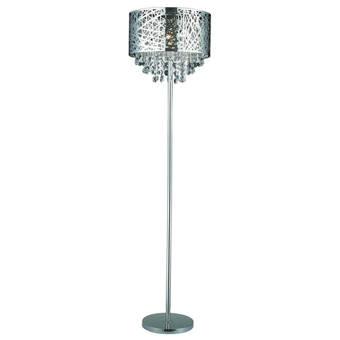 Gen-Lite 103977 Mirrored with Cut-Outs Floor Lamp with Crystals - PeazzLighting
