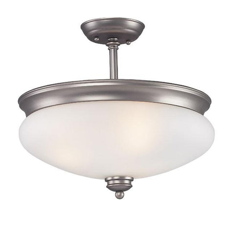 Z-Lite Hollywood Collection Antique Pewter Finish 3 Light Semi Flush Mount - ZLiteStore