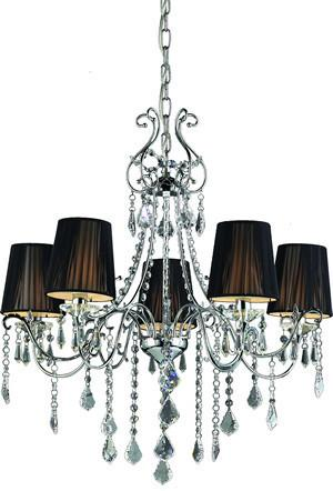 Z-Lite Parisian Crystal Chand. Collection Chrome Finish Five Lights Crystal Chandelier