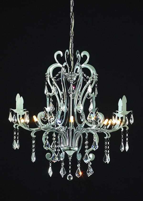Z-Lite Parisian Crystal Chand. Collection Chrome Finish Eight Lights Crystal Chandelier