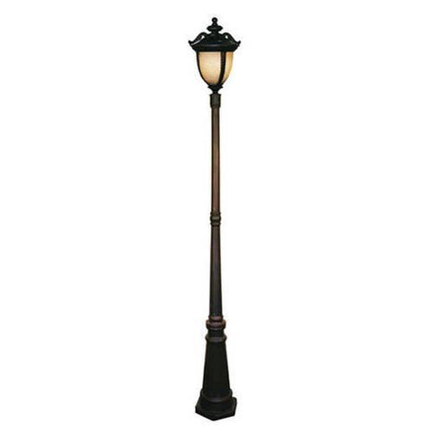 Z-Lite Winchester Collection Black Gold Finish Outdoor Post Light - ZLiteStore