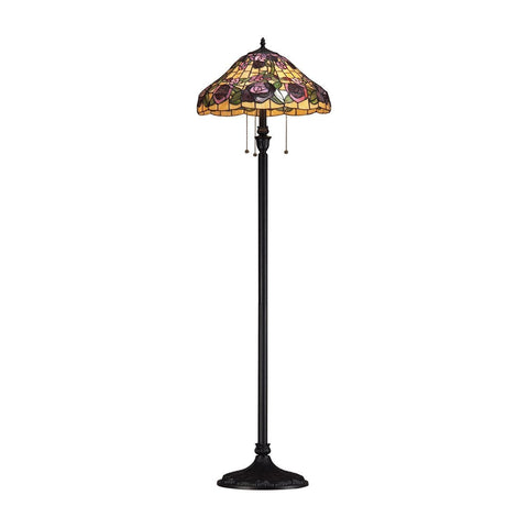 Z-Lite Accent Tiffany Lamp Bronze 3 Light Floor Lamp F18-3004 - ZLiteStore