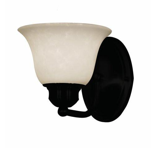UPC 685659000122 product image for Z-Lite Huntingdale Collection Matte Black Finish One Light Vanity | upcitemdb.com