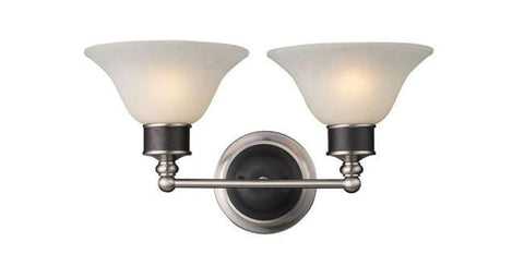 Z-Lite Dynasty Collection Pewter Finish 2 Light Vanity - ZLiteStore