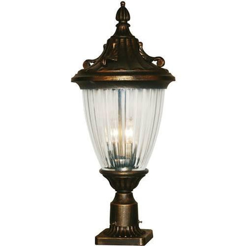 Z-Lite Waterloo Collection Black Gold Finish Outdoor Post Light - ZLiteStore