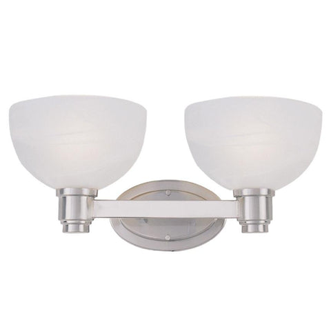 Z-Lite Chelsey Collection Brushed Nickel Finish Two Light Vanity - ZLiteStore