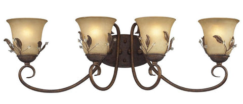 Z-Lite Coventry Collection Antique Gold Finish Four Light Vanity - ZLiteStore