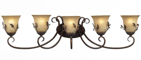 Z-Lite Coventry Collection Antique Gold Finish Five Light Vanity - ZLiteStore