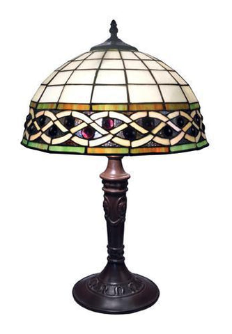 Dimond 70141-2  Angel Wing 2 Light Table Lamp In Tiffany Bronze With Tiffany Glass Shade - PeazzLighting