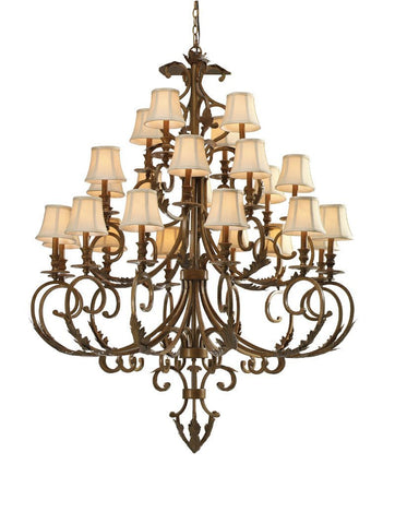 Crystorama Handpainted Wrought Iron Chandelier 12 Lights - Florentine Bronze - 6917-FB - PeazzLighting