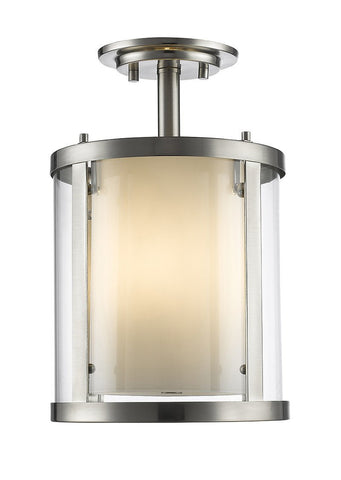 Z-Lite 426SF-BN 3 Light Semi-Flush Mount - ZLiteStore