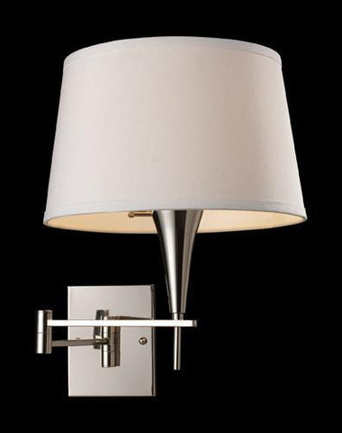 ELK Lighting 10108-1 Swingarm One Light Sconce In Polished Chrome - PeazzLighting
