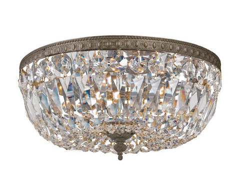 Crystorama 712-EB-CL-S 3-Lights Swarovski Elements Crystal Basket - English Bronze - PeazzLighting
