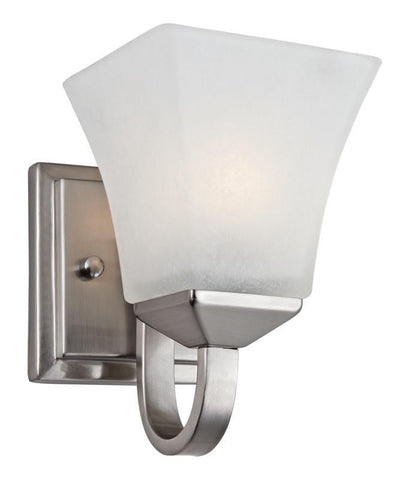 Design House 514745 Torino 1 Light Wall Mount Sn Satin Nickel - PeazzLighting