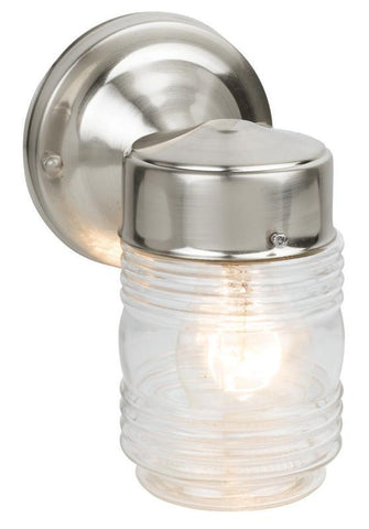 Design House 507806 507806 Jelly Jar Sn Outdoor Downlight Satin Nickel - PeazzLighting