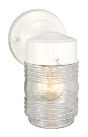 Design House 500181 500181 Jelly Jar Wh Outdoor Downlight White - PeazzLighting