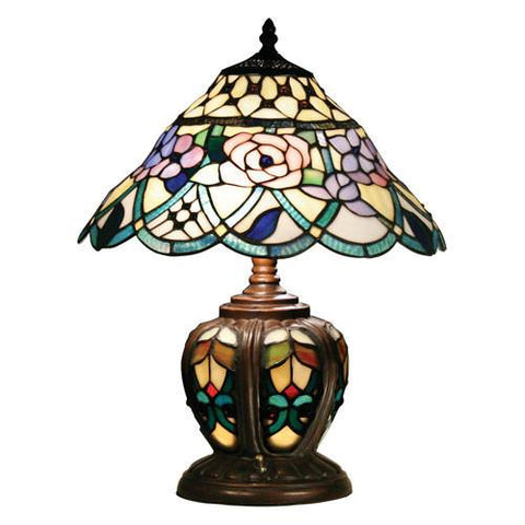 Z-Lite Accent Tiffany Lamp Dark Bronze 3 Light Table Lamp Z14-13 - ZLiteStore