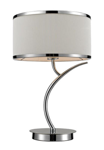 ELK Lighting Annika 1- Light Table Lamp In Polished Chrome - 11350/1 - Peazz.com