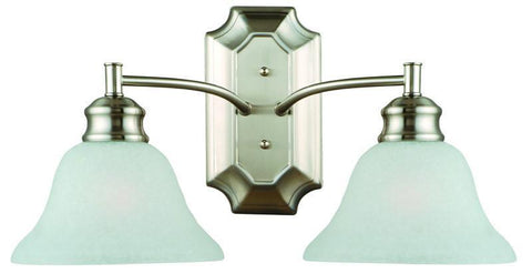 Design House 517086 517086 Bristol 2 Light Wall Mount Satin Nickel - PeazzLighting