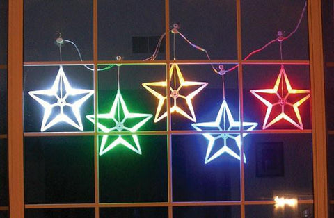 HomeBrite Multi-Color LED Light Stars Set of 5 - PeazzLighting