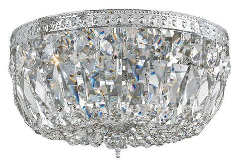 Crystorama 714-CH-CL-S 3-Lights Swarovski Elements Crystal Basket - Polished Chrome - PeazzLighting