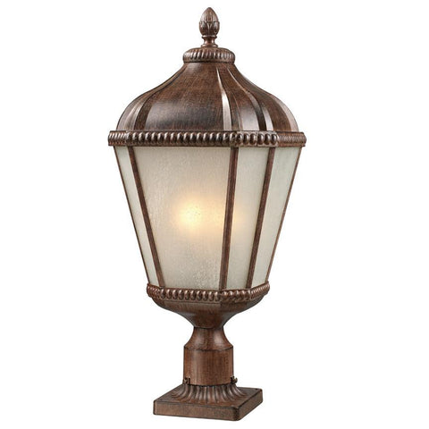 Z Lite Waverly Collection Weathered Bronze Finish Outdoor Post Light - ZLiteStore