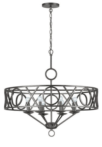 Crystorama English Bronze Wrought Iron Chandelier 8 Lights - English Bronze - 9248-EB - PeazzLighting