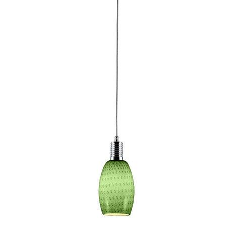 Bromi Design B3101 Prospect Green Glass Mini Pendant - PeazzLighting
