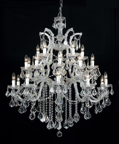 Crystorama Maria Theresa Chandelier Draped in Swarovski Elements Crystal 10 Lights - Polished Chrome - 4470-CH-CL-S - PeazzLighting