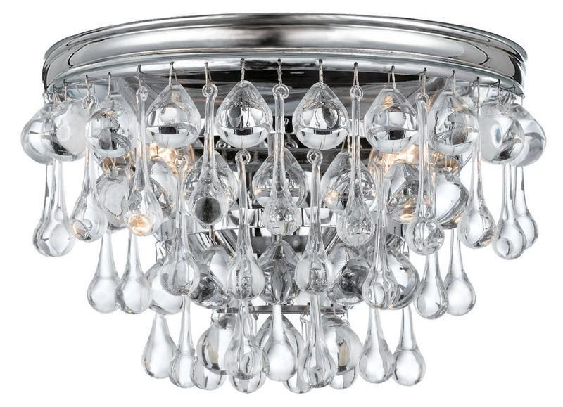 Crystorama 132-CH 2-Lights Wall Sconce With Clear Smooth Glass Balls Accents With Polished Chrome Finish On A Solid Brass Frame. - Polished Chrome