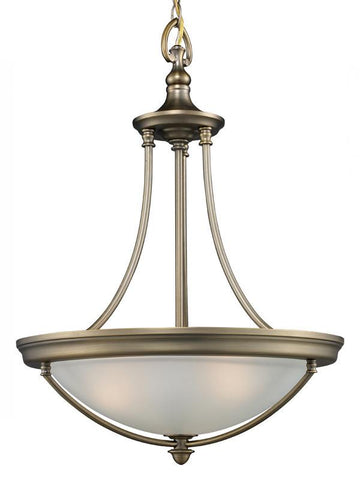 Z-Lite Seacrest Collection Aged Satin Brass Finish Three Lights Pendant - ZLiteStore