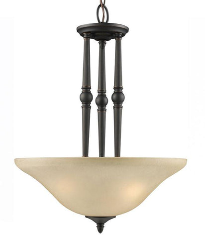 Z-Lite Clayton Collection Burnt Antique Copper Finish 3 Light Pendant - ZLiteStore