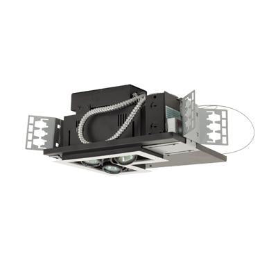 Jesco Lighting MG1650-3LEWB Three-Light Double Gimbal Linear Recessed Low Voltage Fixture