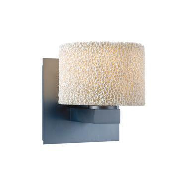 Jesco Lighting WS222-CA/SN CORAL is an elegantly textured ceramic form inspired by the aquatic life in the deep blue seas