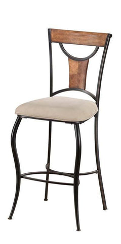 Hillsdale Pacifico Non-Swivel 30 Inch Barstools in Black w/ Cooper Highlights 4137-831 (Set of 2) - HillsdaleSuperStore