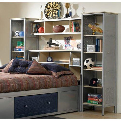 Hillsdale 1178372STGWP Universal Bookcase Headboard - Twin - w/Storage Platform and Wall Unit - HillsdaleSuperStore