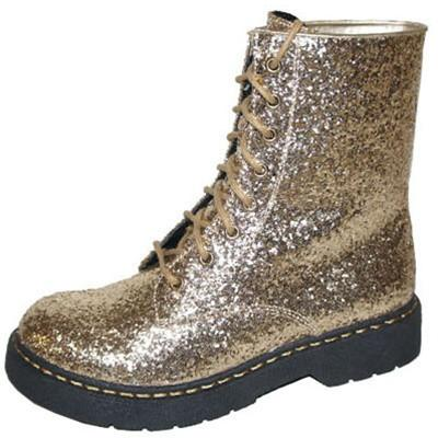 Source-03X Glitter Lace Up Military Bootie - Peazz.com