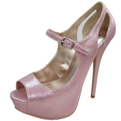 Dazzling-32 Shimmer Peep Toe Mary Jane Pump - Peazz.com
