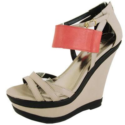 Finder-171 Strappy Open Toe Platform Wedge - Peazz.com