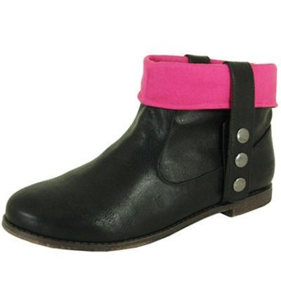 Strip-74 Cuff Round Toe Ankle Bootie - Peazz.com