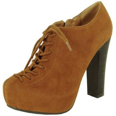 Theron-03 Suede Lace Up Platform Bootie - Peazz.com