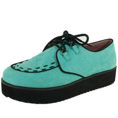 Tiki-06 Round Toe Lace Up Flatform Creeper - Peazz.com