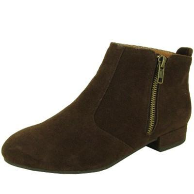 Tinsley-02 Zipper Round Toe Bootie - Peazz.com