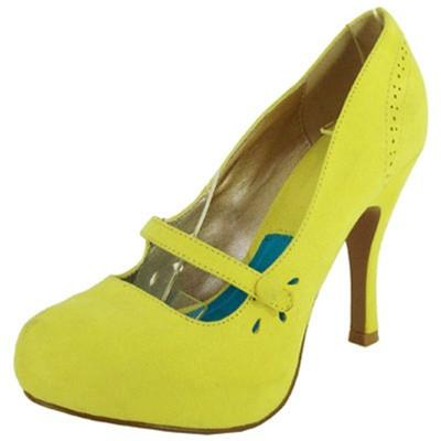 Trench-103X Perforated Almond Toe Pump - Peazz.com