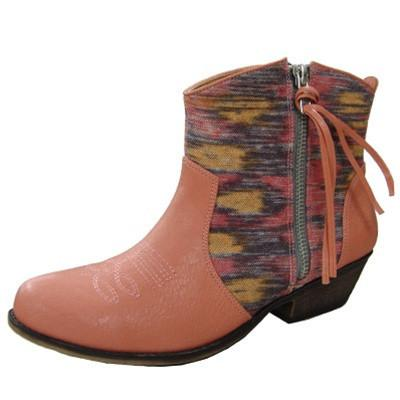 Trio-23 Tribal Cowboy Ankle Bootie - Peazz.com