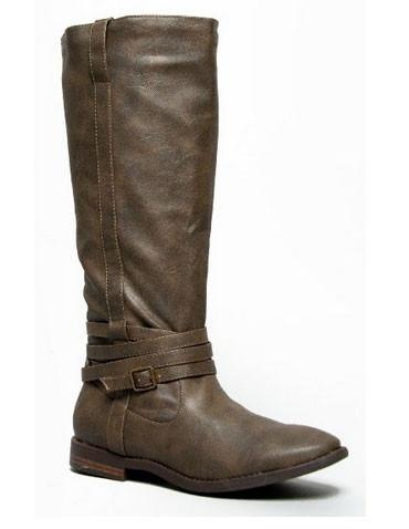 Vance-11 Strappy Knee High Classic Riding Boot - Peazz.com