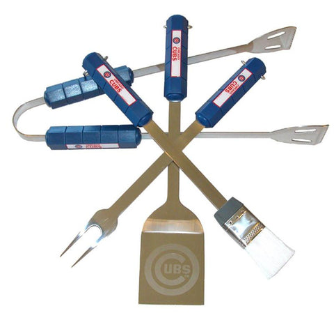 Chicago Cubs 4 Pc Bbq Set - Peazz.com
