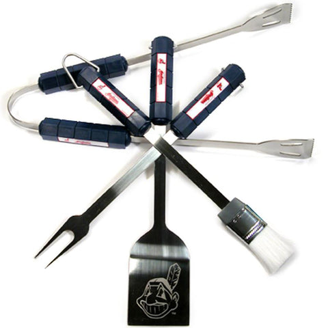 Cleveland Indians 4 Pc Bbq Set - Peazz.com