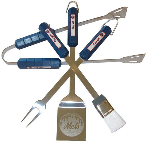 New York Mets 4 Pc Bbq Set - Peazz.com